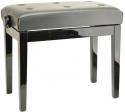 Burghardt Klavierbank BG30 Schwarz poliert schwarzer Kunstlederbezug - Made in Europe