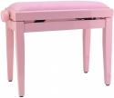 Steinbach Klavierbank in pink poliert mit pinkem Bezug