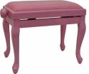 Steinbach Klavierbank in pink poliert mit Chippendale Beinen