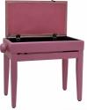 Steinbach Klavierbank mit Notenfach in pink poliert pink Stoff