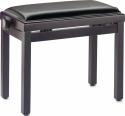Stagg Klavierbank in Rosenholz matt mit schwarzem Kunstlederbezug