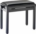 Stagg Klavierbank in Schwarz matt mit schwarzem Kunstlederbezug