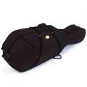 Menzel 4/4 Cellokoffer CC70 mit Rollen Styrofoam-Schale Rucksackgarnitur schwarzer Bezug innen beige