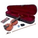 MENZEL Geige VL201 Violinen Set 1/2, Fichtendecke, Ahornboden massiv, inkl. Bogen und und Violinkoffer CV20