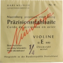 N�rnberger Pr�zision E-Saite 1/4 Geige/Violine Chromstahl mittel