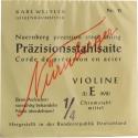 Nürnberger Präzision E-Saite 1/4 Geige/Violine Chromstahl mittel