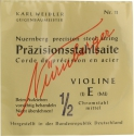 N�rnberger Pr�zision Saitensatz 1/2 Geige/Violine Chromstahl umsponnen Vollkern mittel
