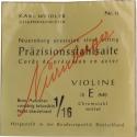 Nürnberger Präzision Saitensatz 1/16 Geige/Violine Chromstahl umsponnen Vollkern mittel