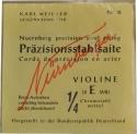 Nürnberger Präzision Saitensatz 1/4 Geige/Violine Chromstahl umsponnen Vollkern mittel