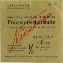 Nürnberger Präzision Saitensatz 1/8 Geige/Violine Chromstahl umsponnen Vollkern mittel