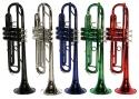 Steinbach Bb- Trompete in Grün mit Neusilber Ventilen - Bestangebot