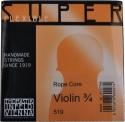 Thomastik 519 Superflexible Saitensatz 3/4 Geige/Violine E-Saite Stahl Alu umsponnen mittel