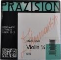 Thomastik 539 Präzision Saitensatz 1/4 Geige/Violine E-Saite Chromstahl blank mittel