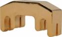 Petz Übungsdämpfer für Violine aus Metall vergoldet vier Zähne