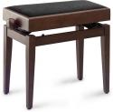 Stagg Klavierbank mit Notenfach in Nuss matt mit schwarzer Stoffbezug