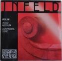 Thomastik IR100 Infeld Red Saitensatz 4/4 Geige/Violine E-Saite Chromstahl vergoldet mittel
