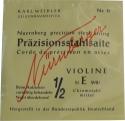 N�rnberger Pr�zision E-Saite 1/2 Geige/Violine Chromstahl mittel
