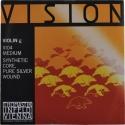 Thomastik VI04 Vision G-Saite 4/4 Geige/Violine Nylonkern Silber umsponnen mittel
