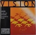 Thomastik VI100 Vision Saitensatz 3/4 Geige/Violine Nylonkern E-Saite Stahl verzinnt mittel