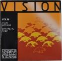 Thomastik VI100 Vision Saitensatz 4/4 Geige/Violine Nylonkern E-Saite Stahl verzinnt mittel