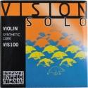 Thomastik VIS100 Vision Solo Saitensatz  4/4 Geige/Violine Nylonkern umsponnen E-Saite Stahl verzinnt mittel