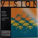 Thomastik VIT100 Vision Titanium Solo Saitensatz 4/4 Geige/Violine Nylonkern E-Saite Edelstahl titanbeschichtet mittel
