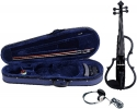 GEWA E-Violine Line II in der Farbe schwarz im Set inklusive Kopfhörer und Schulterstütze