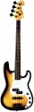 Tenson 4/4 E-Bass California PJ Deluxe in vintage burst