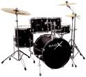 Schlagzeug Basix OXYGEN Set 1 schwarz 22 Zoll