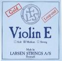 Larsen Saitensatz 4/4 Geige/Violine E-Saite Stahl blank Schlinge mittel