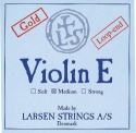 Larsen Saitensatz 4/4 Geige/Violine E-Saite Stahl blank Schlinge dick