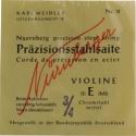 N�rnberger Pr�zision Saitensatz 3/4 Geige/Violine Chromstahl umsponnen Vollkern mittel