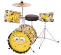 SPONGEBOB Schlagzeug 3 Teile mit Zubeh�r