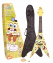 SPONGEBOB Ukulele Flying V Design mit Zubeh�r