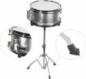 Steinbach Snare Drum 10x5 Zoll für Kinderschlagzeug silber inkl. Ständer