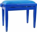 Steinbach Klavierbank in blau poliert mit blauem Bezug