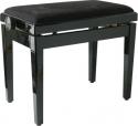 Klavierbank SPB45M BK P schwarz poliert schwarzer Soft-Velours Bezug