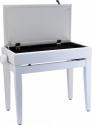 Steinbach Klavierbank mit Notenfach in Weiß matt weißes Kunstleder