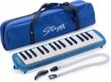 Stagg Melodica 32 Tasten blau inkl. Anblasschlauch