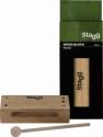Stagg WB326S Kleiner Thai Block aus Holz mit Schlegel