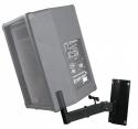 Stagg SPH-15BK Paar Wandmontage Lautsprecher-Halterungen mit Montagerohr