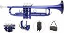 Steinbach Bb- Trompete in Blau mit Neusilber Ventilen - Bestangebot
