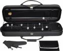 Steinbach 4/4 Geigenkoffer Rechteckmodell mit Reflektorstreifen und versenkbarer Rucksackgarnitur