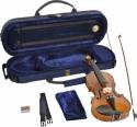 Steinbach 1/8 Geige im SET Ebenholzgarnitur angeflammter Boden goldbraun poliert