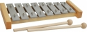 Steinbach Glockenspiel 8 Klangplatten silber diatonisch Tonumfang von c''-c''