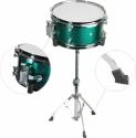 Steinbach Snare Drum 10x6 Zoll für Kinderschlagzeug grün inkl. Ständer