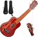 Steinbach Sopranukulele rot Hawaii Design Gitarrenmechanik inkl. Gigbag