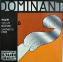 Thomastik 135BM Dominant Saitensatz 1/2 Geige/Violine E-Saite Chromstahl mittel