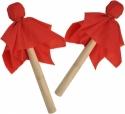 Steinbach Schlegel Paar für Trommel mit Holzkopf