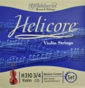 D`Addario Helicore Saitensatz 3/4 Geige/Violine E-Saite Carbonstahl verzinnt mittel